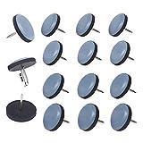 Tacos de teflón redondos con clavo, diámetro de 22 mm, 16 unidades, 5 mm de grosor, revestimiento de PTFE