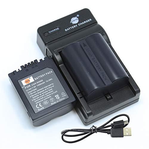 DSTE CGR-S006E Kamera Akku (2 Pack) & Ladegerät kompatibel mit Panasonic Lumix DMC-FZ30 DMC-FZ50 DMC-FZ28 DMC-FZ18 DMC-FZ8 DMC-FZ38 DMC-FZ35 DMC-FZ7