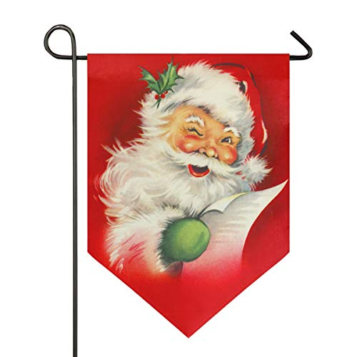 Oarencol Christmas Fnnuy Santa Claus Vintage Xmas Large House Flag Double Sided Home Yard Decorative Garden Banner 28 x 40 Inch