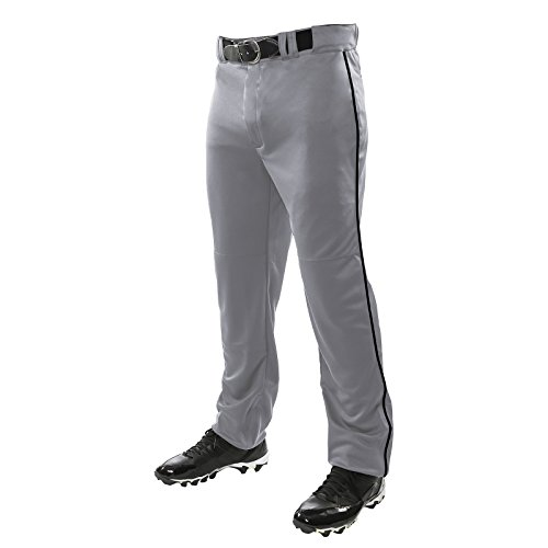 Champro Sports Adult Triple Crown Open Bottom Piped Pants Mens BP91UAGBPM GreyBlack M