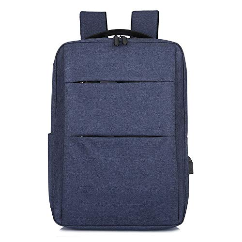 Ang-xj Laptop backpack,business laptop bag waterproof travel backpack, with USB charging port and headphone jack,men's business large capacity waterproof backpack outdoor travel (Color : Dark blue)