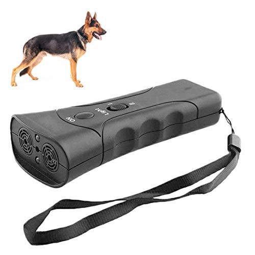 Huai1988 Ahuyentador de perros, dispositivo antiladrido, dispositivo de control de ladridos ultrasónico, LED infrarrojos, repelente de perros, entrenador de control para mascotas al aire libre