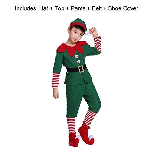 DYL&CDAI Vakantie decoratie Kostuum Voor Kinderen Gift Volwassen Familie Nieuwjaar Kerstmis Feestjurk Groene Kerstman Prestatie Kleding