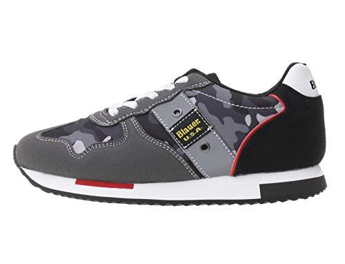 Blauer USA Kinder Schuhe Sodash02/Cam Sneaker für Kids, Farbe:Schwarz, Größe:EUR 32