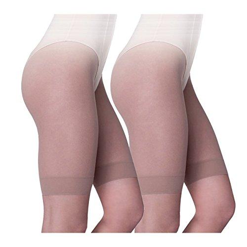 Ergora Kurzstrumpfhose Strumpfpanty comfort 2-Pack 30 Den antibakteriell Perle Gr. 60/62 Strumpf-Panty