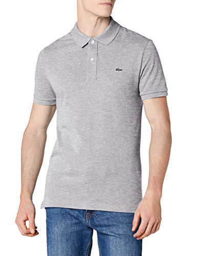 Lacoste Ph4014 - Polo - Homme, Gris (Argent Chiné), Medium (Taille fabricant : 4)