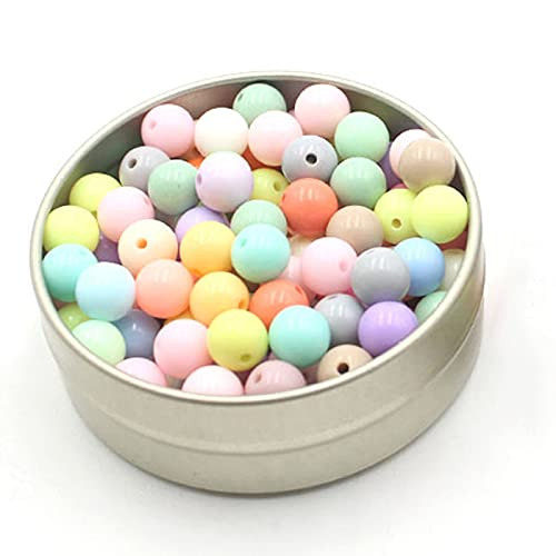 LQXZJ-DIY handicrafts Acrylic Light Color Beads, DIY Handmade Beads, Used In Jewelry Accessories Dream Catcher Material Package Loose Beads Light Color Real Color Beads (Color : 300PCS, Size : 6mm)