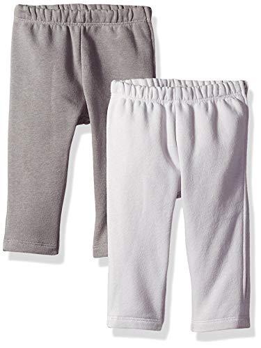 Hanes Ultimate Baby Zippin 2 Pack Fleece Pants with Side Zipper, Grey, 12-18 Months