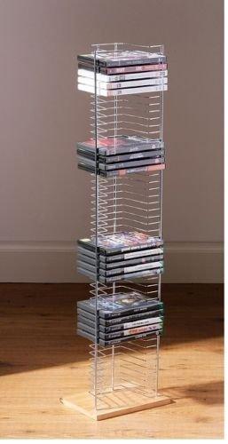 OTZ - Base in legno per torre porta DVD, contenitore per giochi per XBOX, PS3, PS4, autoportante, per 50 pezzi