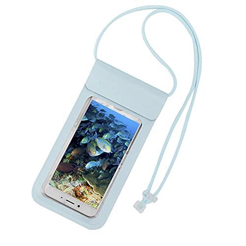 YJZO Bolsa impermeable para teléfono – Bolsa impermeable para teléfono con cuerda colgante para natación (5,5 pulgadas)