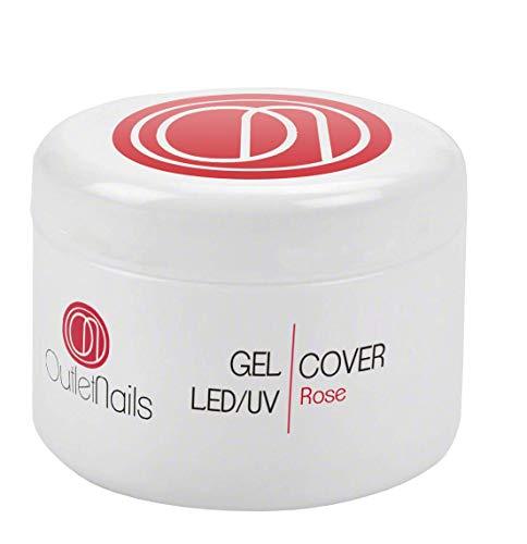 UV Gel Cover Rose Intenso 30ml para uñas de gel - UV/Led secado