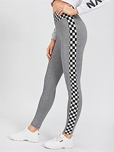 ArcherWlh Leggings Mujer Push Up,Pantalones de Yoga de Mallas elásticas de Costura de celosía Europea y Americana vendedores Calientes-Gris_L