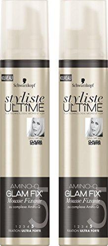 Styliste Ultimes Amino Glam Fix Mousse Fixante 200 ml - Lot de 2