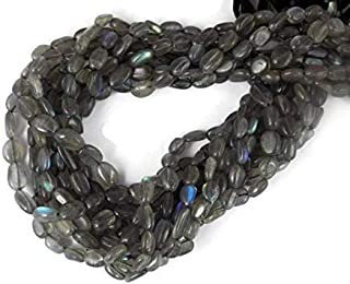 Jewel Beads 50% Off 5 Strands Labradorite Smooth Oval Beads - Beads Measure About 10X6mm 13.5 Inch Long Strand Code-AUR-38279