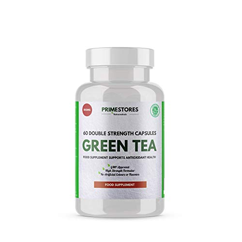Green Tea Weight Loss Tablets 850mg - 60 Fat Burner Capsules - High Strength Halal Slimming Supplement Pills by Primestores