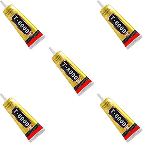 MMOBIEL T-8000 Mehrzweck Flüssig Kleber High Performance Industrie Klebstoff transparent inkl. Präzisionstipp für sauberes Arbeiten (5, 110ml)
