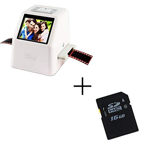 Portable Scanner Alta resolución 22 MP 110135 126KPK Escáner fotográfico Negativo Super 8 Escáner de película Deslizante de 35 mm Convertidor de película Digital 2.4