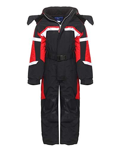 PM - Tuta da sci per bambino o bambina, articolo LC1217, LB1217, nero, 128
