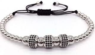 Hooba Arm Bracelets for Men, Silver, B17-48