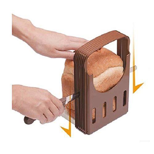 PIXNOR Einstellbare Slicer Loaf Sandwich Toast Brotschneidmaschinen (Kaffee + weiß)