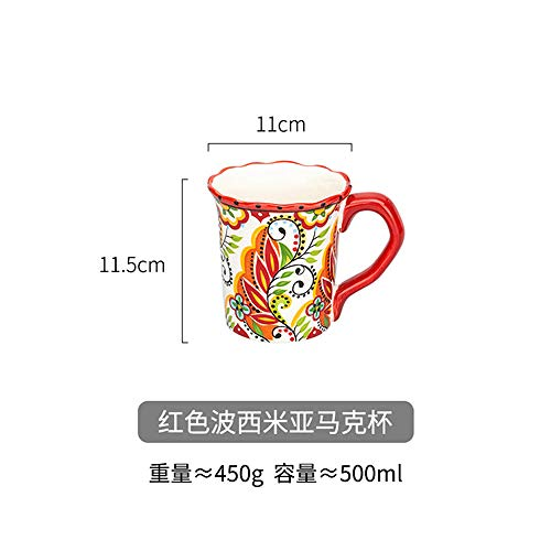 YXYLQ Tazas Pintadas A Mano Divertido Taza De Té Personalizada Desayuno Grande Tazas De Leche Kubek Ceramiczny Tazas Caseras Ac50Mu-Style3
