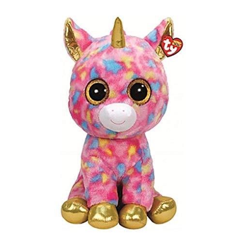 TY T99998 99998 Fantasia Unicornio con Ojos Brillantes, Beanie Boo\'s, Felpa, Multicolor, 72 cm