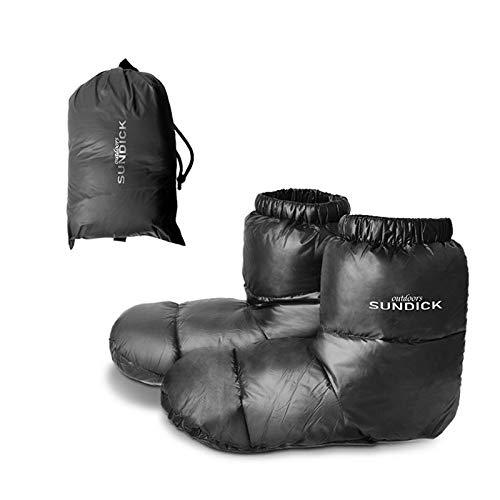 Funien 屋外キャンプスリッパ寝袋用ウォームソックス屋内ウォームブーツ男性女性冬ダックダウンブーツスリッパブーツ