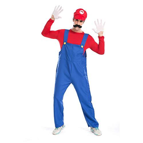 * Best Value * Super Mario Costume for Men. Luigi also available
