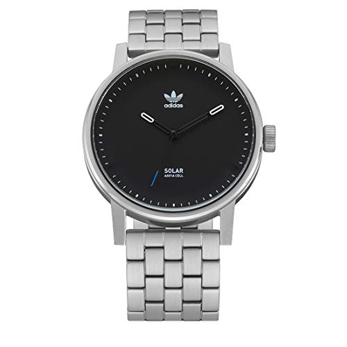 Adidas Unisex Analog Solar Quarzwerk Uhr mit Edelstahl Armband Z24-625-00