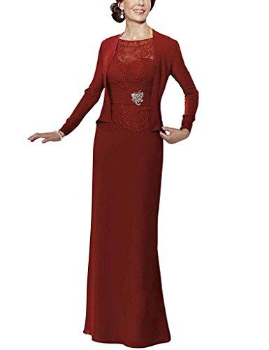 HUINI Encaje Beads Madre de Gasa de la Novia de Vestidos Largos Vestidos Formales con Chaqueta Size 52