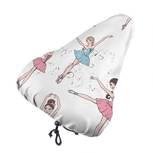 Asiento de bicicleta para mujer con zapatos de falda de ballet y corona Asiento de bicicleta para niño Protector de lluvia Asiento de bicicleta para niño Protector de lluvia con cordón, resistente a