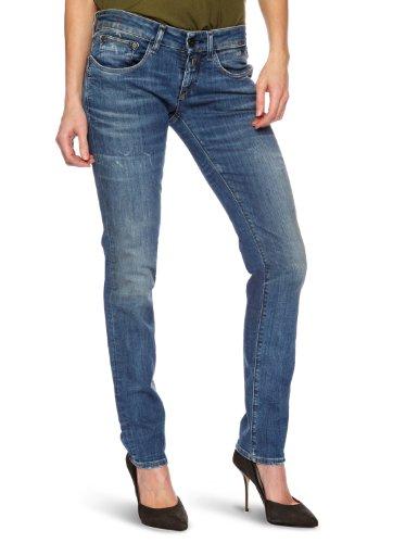 Replay Damen Skinny Jeans Radixes WV640, Blau - Mid Blue Lasered, 28W / 34L