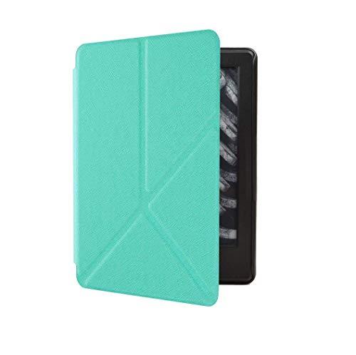 Capa Kindle Paperwhite 10ª geração à prova d'água - Função Liga/Desliga - Fechamento magnético - Origami - Verde Menta