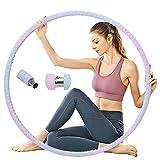 EUYIFET Hula Hoop - Pneumatico pesato per adulti, per esercizi fisici, per esercizi fisici, pesanti, 8 sezioni, peso regolabile, per principianti per massaggi e bruciare i grassi