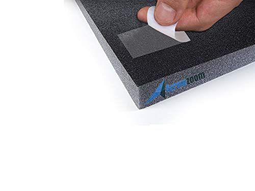 Arrowzoom 24 Double Sided Transparent Strong Acoustic Foam Adhesive Tapes Easy Mounting Heavy Duty Sticky Pads 1.18 x 1.18 in