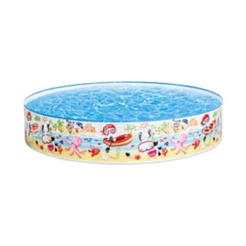 Greatideal Planschbecken, Ocean Play Snapset Pool, Tragbares Kinderschwimmbad, Rundes Familienschwimmbad Ideal Für Mädchen Und Jungen Im Freien Wasserspaß, Mehrfarbig