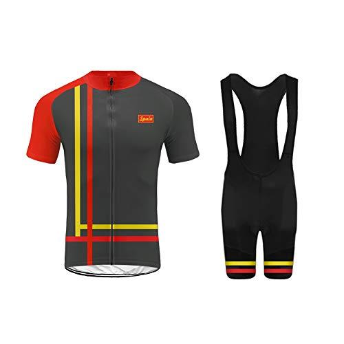 Uglyfrog ESHNE04 Bike Wear Ciclismo MTB Hombres Maillots Sports+Bib Tight Sets Seco y Transpirable de Bicicleta Conjunto de Ropa de Ciclo Jersey de Manga Corta