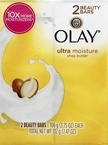 Olay Outlast Ultra Moisture Shea Butter Beauty Bar, 3.75 oz, 2 ct