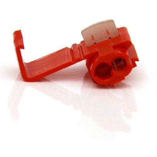 50Abzweigkasten Anschluss rot 0,5–1,5mm² Stecker Stromkabel Splitter A Stromdiebe Verteilung abzweigen Japaner Klemmverbinder fahren Kabela