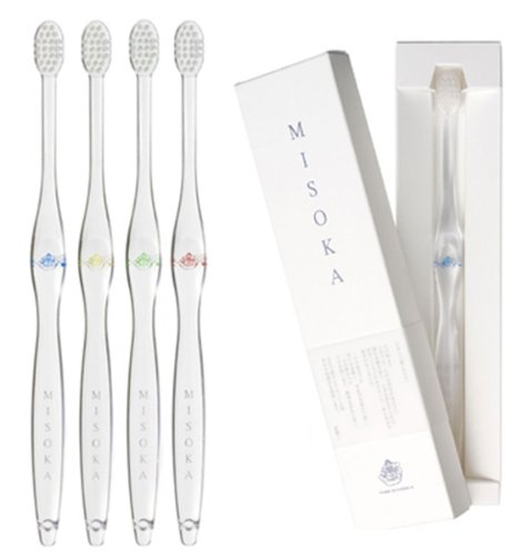 MISOKA 夢職人 魔法の歯ブラシ / M普通サイズ4本 / ミネラルでできているから歯磨き粉不要! / 旅行に便利! / ナノテク