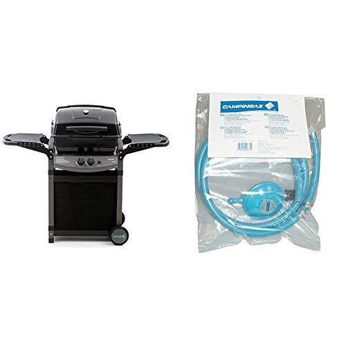Sochef Saporillo Barbecue, Nero/Grigio, 46x125x103 cm & Campingaz Y980000000 Regolatore di Pressione del Gas Accessorio per Barbecue/Grill