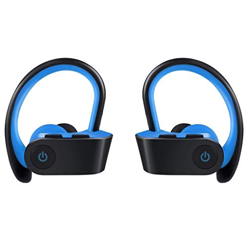LCSD headphones Wireless Headphone Sports Headset Bluetooth Earphone, Over Ear Type Earbuds Metal Good Sound Quality (Color : Blue)