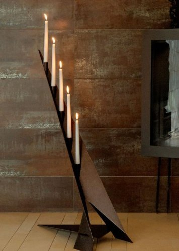 Svenskav Design Kerzenleuchter Futura Kupfer antik, Höhe 100 cm