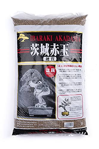 CERTRE Akadama Hard Quality Ibaraki Lt. 14 - Grano Fine-Medio (2-5 mm) Bonsai Piante (Japan) (Substrato Giapponese Neutro)