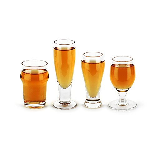 Thumbs Up ! Craft Shots-Set de 4 Mini Verres à Bière Verre Transparent/4 X 4 X 4 cm