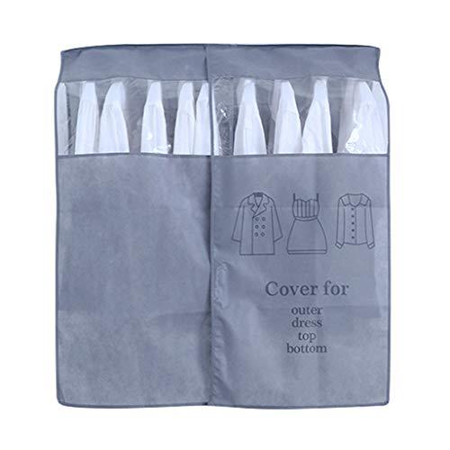 NINGYE Cubierta de ropa para colgar, a prueba de polvo, bolsas de ropa para traje de vestir, organizador de abrigos