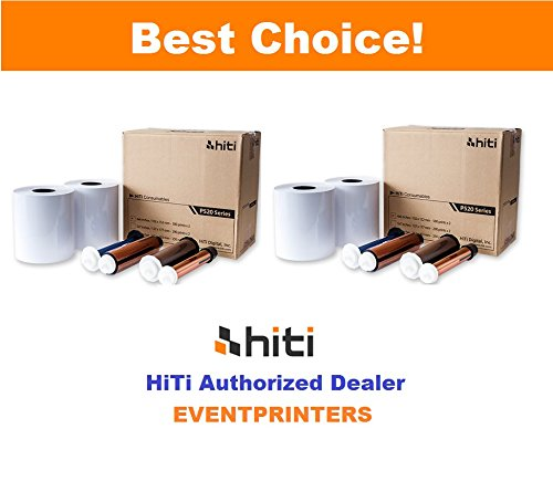 Two Boxes of HiTi 4x6 Media for Hiti P525L and Hiti P520L Printers. Paper and Ribbon kit (Total 2000 Prints). Comes with Free Samples of Our Photo folders (EVENTPRINTERS Brand).