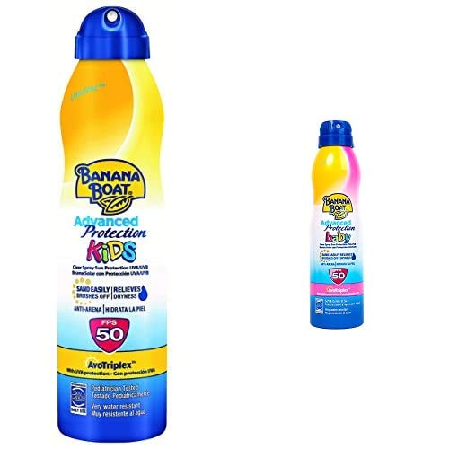 Banana Boat Crema Solar Bundle Para Niño Y Bebé (Spray) Advanced Protection
