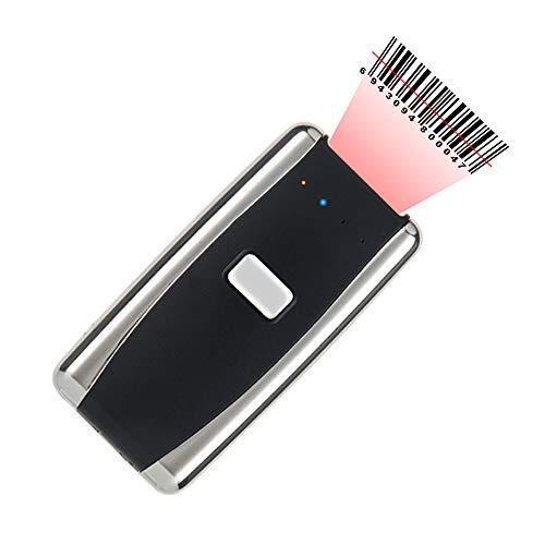 ZUKN Bluetooth Wireless Barcode-Scanner Tragbarer Mini-2D-Codeleser Kompatibel Smartphone, Tablet, Laptop Barcode-Scanner Anzug Für Den Einzelhandel POS