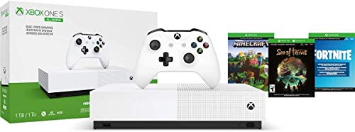 Consola Xbox One S 1TB All Digital con 3 juegos digitales (No tiene lector de discos) – Special Edition